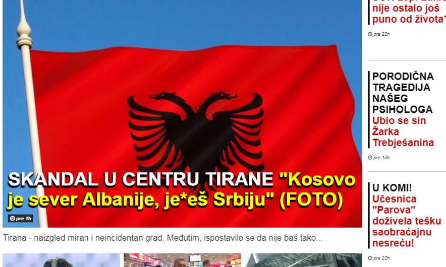 Mediat serbe prodhojnë skandal pa ndodhur gjë