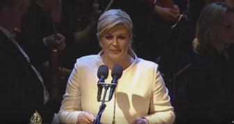 "Info Shqip: Befason presidentja kroate: Përshëndet me ""Esselamu Alejkum"" (VIDEO)"