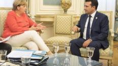 Info Shqip: Kryeministri Zaev në Berlin, takon kancelaren gjermane