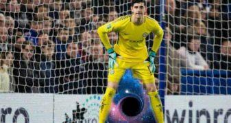 """Info Shqip: I kishin """"ngrirë këmbët"""", të gjithë ironizojnë Courtoisin për golat e pësuar (FOTO-LAJM)"""