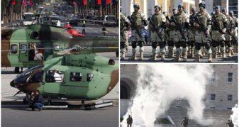 """Info Shqip: Helikopterë, snajpera dhe tym kudo, forcat speciale """"pushtojnë"""" Tiranën (FOTO)"""