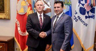 Info Shqip: Zaev takohet me zëvendëspresidentin amerikan, ja porosia që vjen nga Washingtoni