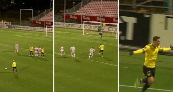Info Shqip: Aksion i paparë më herët në futbollin norvegjez, Shala shënon gol të bukur