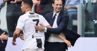 Info Shqip: Allegri: Duam vetëm fitore, Ronaldo luan, Chiellini jo