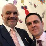 Info Shqip: Bilall Kasami takim vëllazëror me Edi Ramën (FOTO)