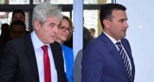 Info Shqip: Përfundoi takimi Zaev – Ahmeti, janë shkëmbyer emrat e pesë kanidatëve konsesual presidencial