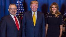 Info Shqip: Biznesmeni i njohur nga Dibra e Madhe Selim Rusi takon Presidentin Trump dhe Zonjën e Parë