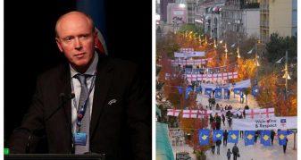 Info Shqip: Pse gjithë ky organizim për mikpritjen e anglezëve? Kujtojmë fjalimin e Alasdair Bell, që shtyu Kosovën në UEFA