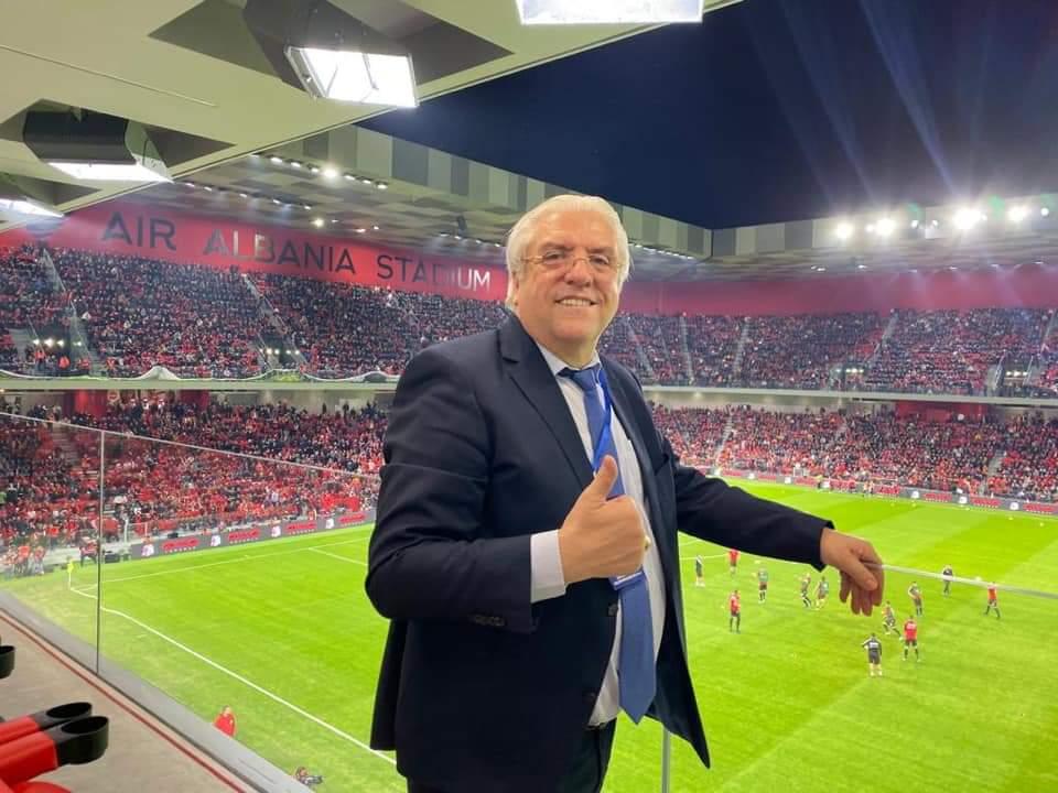 """Info Shqip: Lazim Destani: Është kënaqësi e jashtëzakonshme të jesh sonte në stadiumin e ri """"Air Albania"""" në Tiranë"""