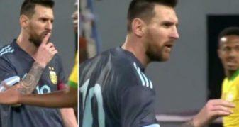 Info Shqip: Momenti kur Messi i thotë trajnerit të Brazilit ta mbyllë gojën (VIDEO)